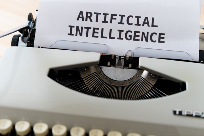 Artificial Intelligence AI Typewriter